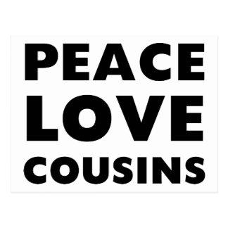 Peace Love Cousins Postcard
