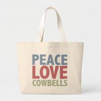 Peace Love Cowbells Canvas Bags