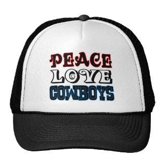 Peace Love Cowboys Cap