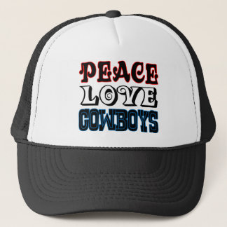 Peace Love Cowboys Trucker Hat