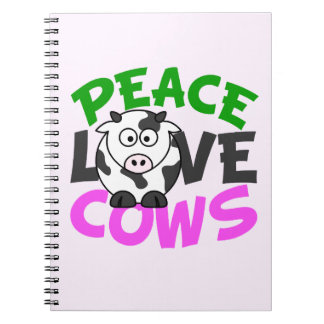 Peace Love Cows Notebook