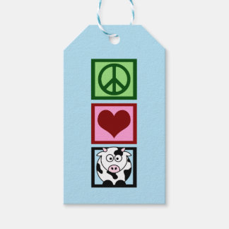 Peace Love Cows (vertical) Gift Tags