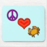PEACE - LOVE - CRABS MOUSEPADS