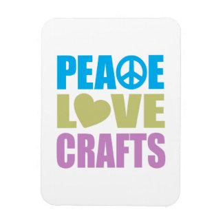 Peace Love Crafts Rectangular Photo Magnet