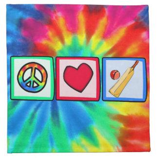 Peace, Love, Cricket Cloth Napkins