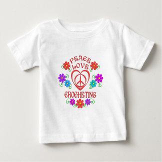Peace Love Crocheting Baby T-Shirt