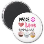 Peace. Love. Cupcakes. Magnet
