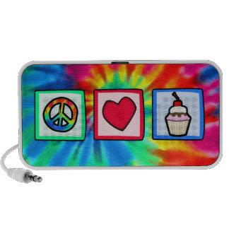 Peace, Love, Cupcakes Notebook Speakers