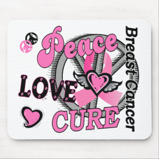 Peace Love Cure 2 Breast Cancer Mouse Pads