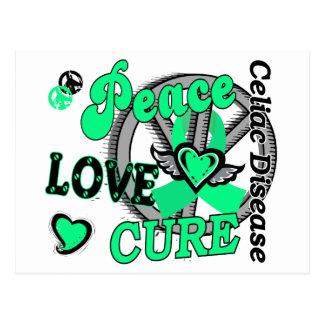 Peace Love Cure 2 Celiac Disease Postcard
