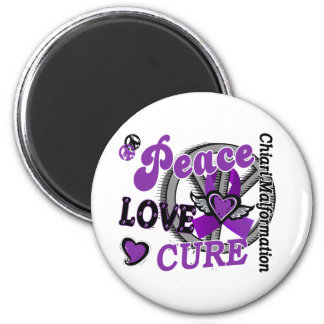 Peace Love Cure 2 Chiari Malformation 6 Cm Round Magnet