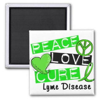 Peace Love Cure Lyme Disease 1 Magnet