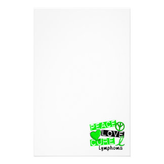 Peace Love Cure Lymphoma Custom Stationery