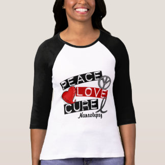 PEACE LOVE CURE NARCOLEPSY T-Shirt