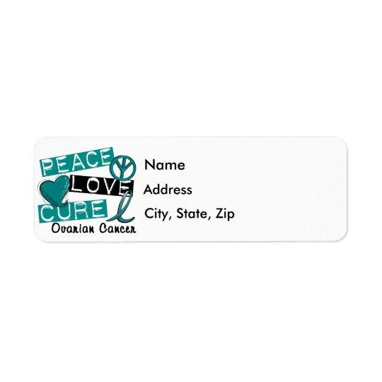 Peace Love Cure Ovarian Cancer Return Address Label