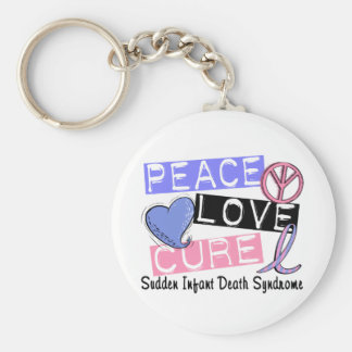 Peace Love Cure SIDS Sudden Infant Death Syndrome Key Ring