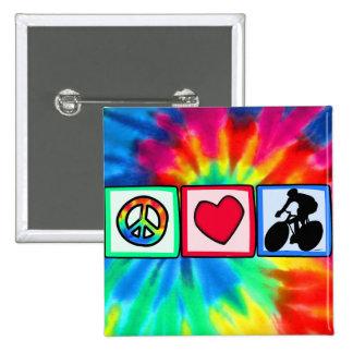Peace, Love, Cycling Pins