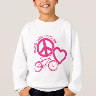PEACE, LOVE & CYCLING SWEATSHIRT