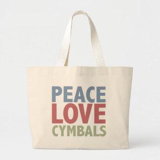 Peace Love Cymbals Jumbo Tote Bag