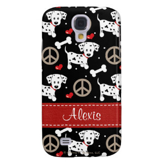 Peace Love Dalmatian  Samsung Galaxy S4 Case