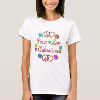 PEACE LOVE DALMATIANS T-Shirt