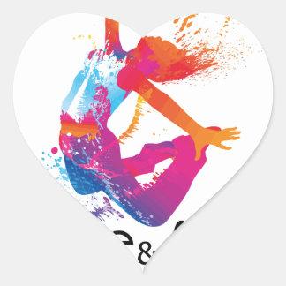 Peace & love Dance Heart Sticker