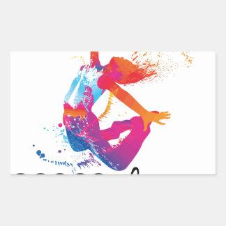 Peace & love Dance Rectangular Sticker
