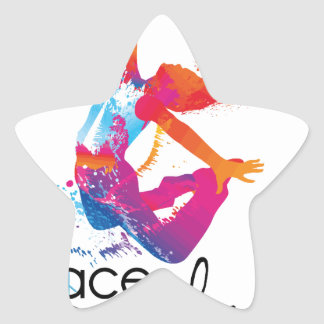 Peace & love Dance Star Sticker