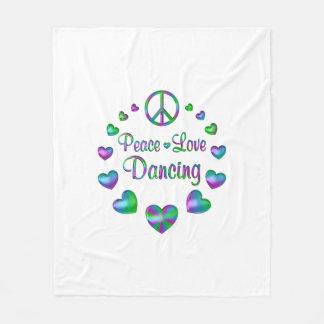 Peace Love Dancing Fleece Blanket