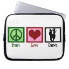 Peace Love Dancing Laptop Sleeve