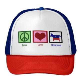 Peace Love Democrat Cap