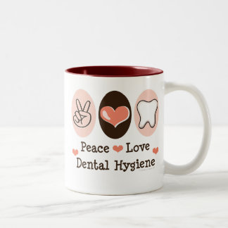 Peace Love Dental Hygiene Mug
