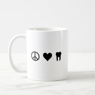Peace, Love, Dentistry Coffee Mug