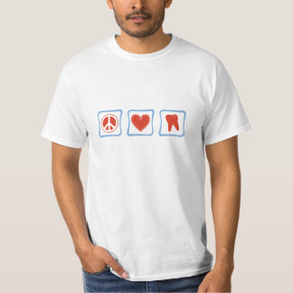 Peace Love Dentists Squares T-Shirt