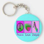Peace Love Dialysis Keychain