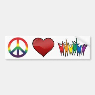 Peace Love Diversity Bumper Sticker