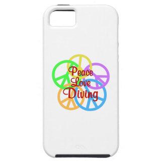 Peace Love Diving Tough iPhone 5 Case