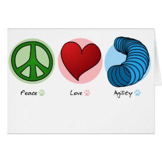 Peace Love & Dog Agility Card