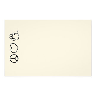 Peace, Love, & Dogs Custom Stationery