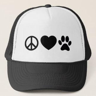 Peace, Love & Dogs Trucker Hat