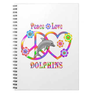 Peace Love Dolphins Notebook