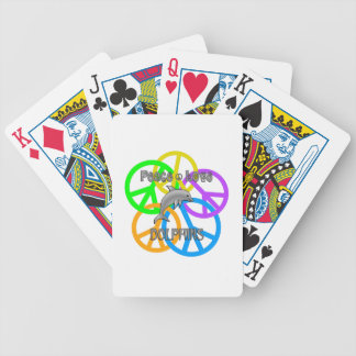 Peace Love Dolphins Poker Deck