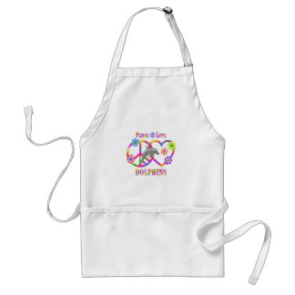 Peace Love Dolphins Standard Apron