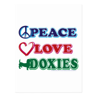 Peace Love Doxies Postcard