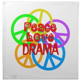 Peace Love Drama Napkin