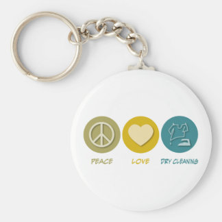 Peace Love Dry Cleaning Keychains