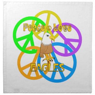 Peace Love Eagles Napkin