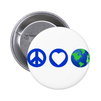 Peace Love Earth Buttons