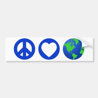 Peace Love Earth Bumper Sticker