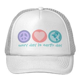 Peace, Love & Earth (Earth Day) Hat